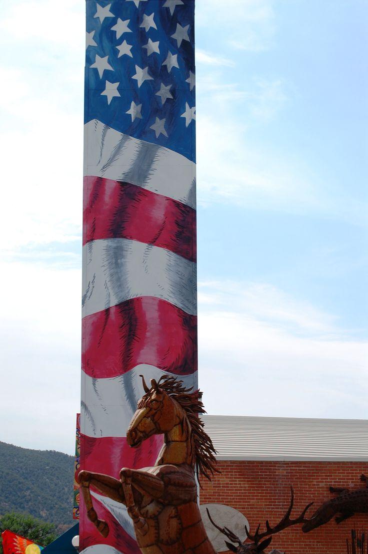 metal flag stand