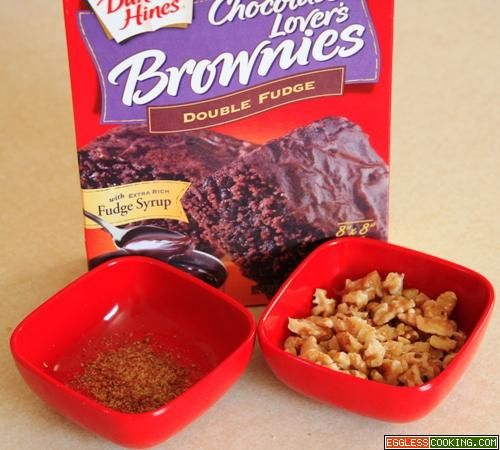 Eggless brownies from a mix! | Eggless Baking | Pinterest