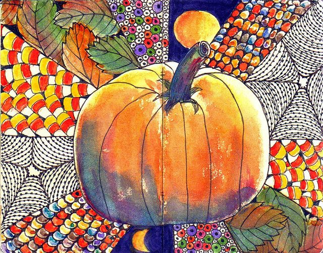 """HAPPY HALLOWEEN..."" by Margaret Storer-Roche, via Flickr.  Love this - deserves a time commitment for instruction and creation!"