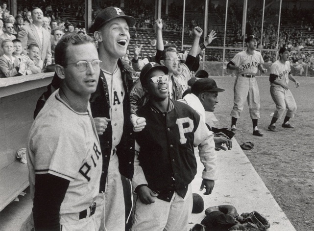 Pittsburgh Pirates Dugout. May 26, 1956.
