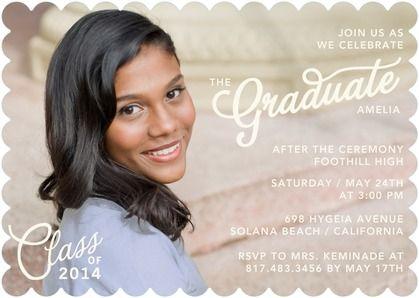 Retro Grad - #Graduation Invitations - Tallu-lah - Pearl neutral tones