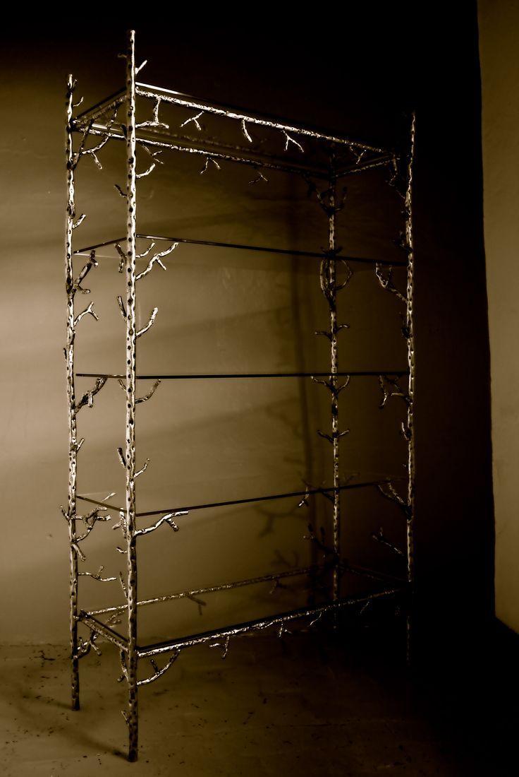 ... étagère | metallic branch furniture and curtain rods | Pinterest
