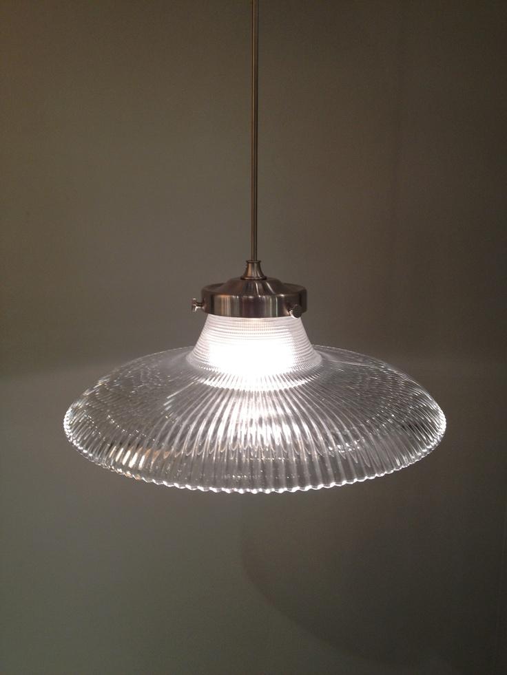 Fluted glass pendulum light lighting pinterest for Pendulum light globes