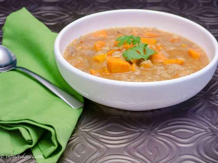 crock pot sweet potato & lentil soup | infinebalance.com