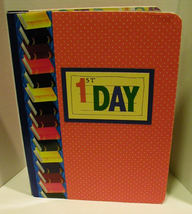 First day of school memory book!