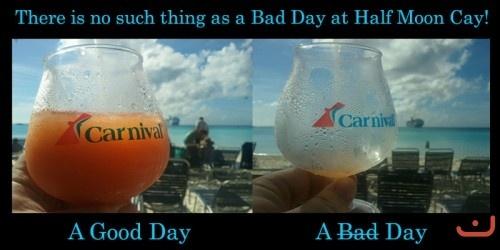 I love Half Moon Cay and Carnival Cruise!