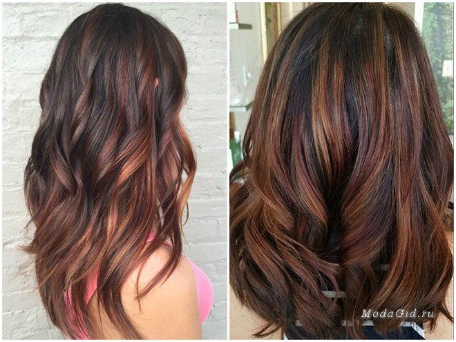 Модное окрашивание для прямых волос 2017