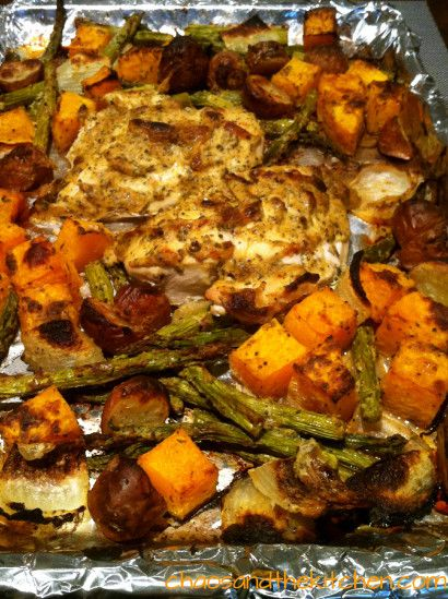 Dijon and Herb Roasted Chicken and Veggies | Tasty Kitchen: A Happy ...