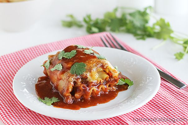 Mexican Lasagna Roll Ups. A little bit of Mexican combined with a ...
