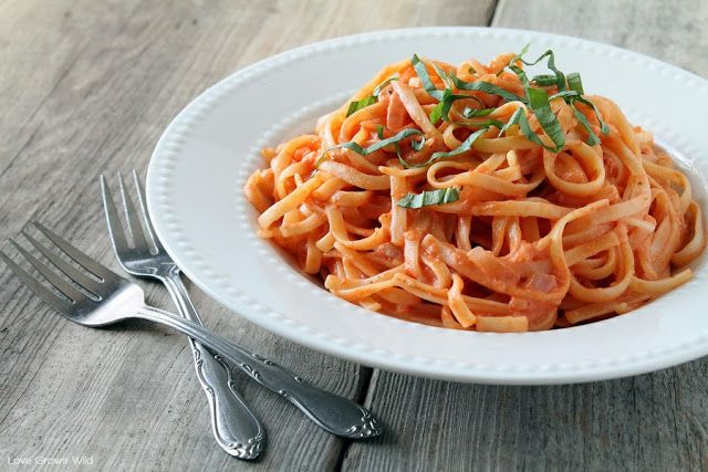 Pasta with Tomato Cream Sauce - Reduce oil and butter by half ...