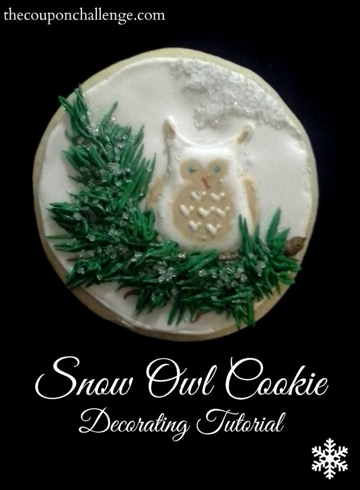 Snow Owl Cookie Decorating Tutorial