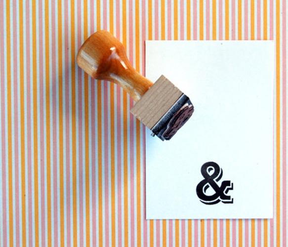 Ampersand Rubber Stamp