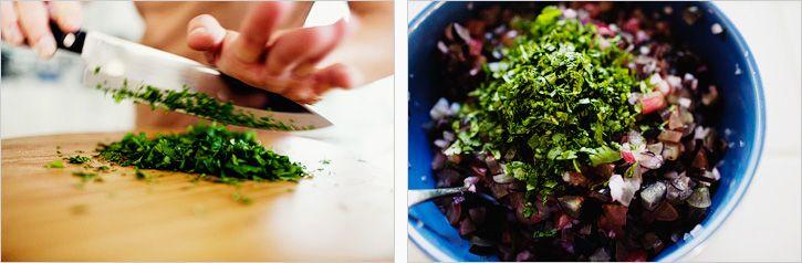 grape salsa on goat cheese crostini | small bites & dips | Pinterest