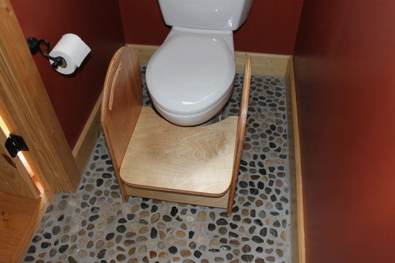 Potty Step Stool With Handrails For Kids