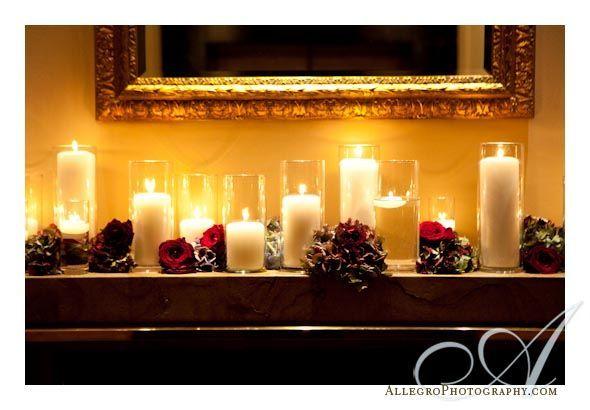 Mantle decor with candles centerpiece ideas pinterest