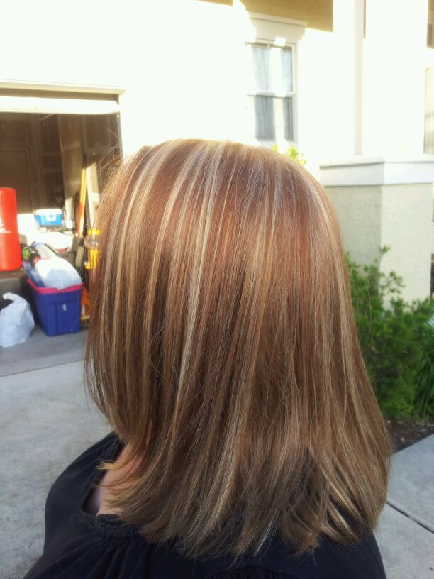 copper and blond low and highlights | Hairstyles | Pinterest