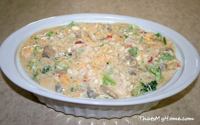 Chicken, Broccoli and Rice Casserole - Recipes, Food and Cooking