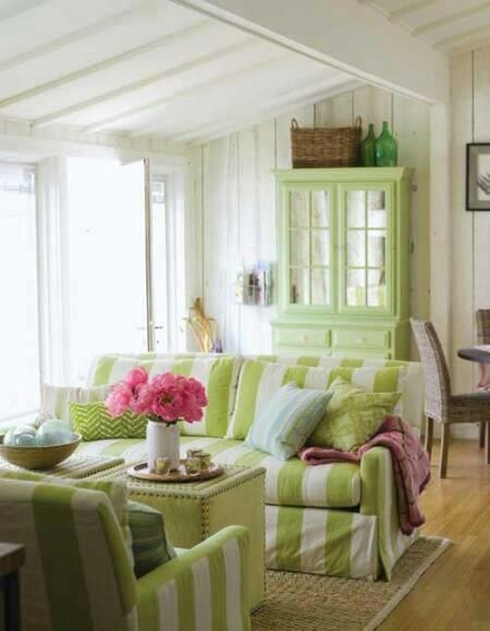 Lime Green Living Room New With Green Cottage Living Room Pictures