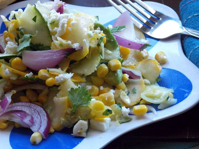 ... , Full Time Foodie: Zucchini Ribbon Salad with Sweet Corn and Avocado