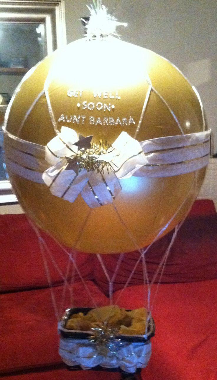 medium hot air balloon get well basket decorations pinterest