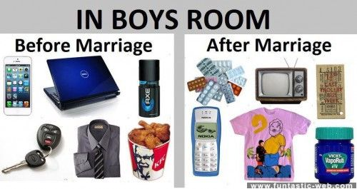 Boys Rooms - Before and after Marriage