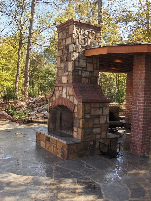 Stone Brick Fireplace Stone Fireplaces Pinterest