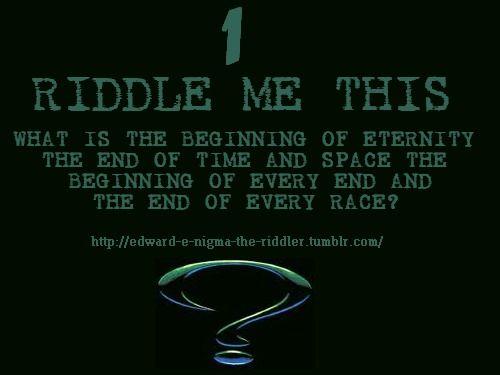 riddler sign