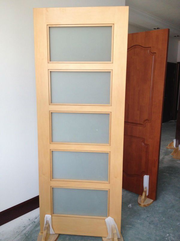 Lacquer Wooden Frosted Glass Bathroom Door Design Buy