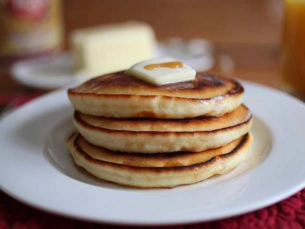 delicious gluten-free pancakes! I used sorghum flour instead of rice ...