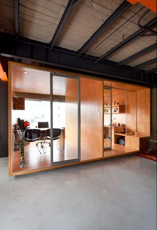 Wooden Partition Office Pinterest