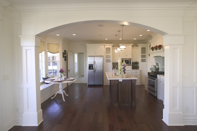 Arched entry way to the kitchen for the home pinterest