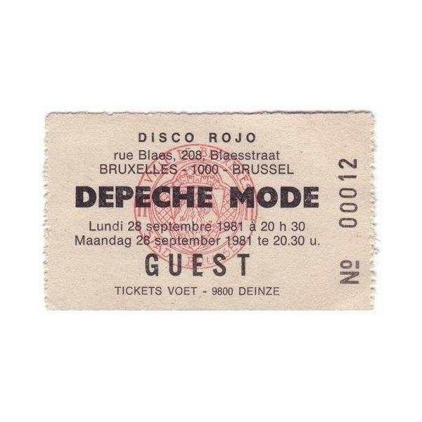depeche mode 1981 concert ticket concert tickets pinterest. Black Bedroom Furniture Sets. Home Design Ideas