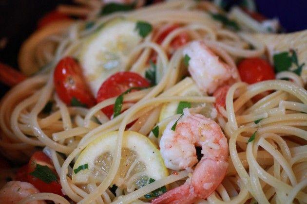 Linguine with Shrimp, Tomatoes + Lemon   Entree recipes   Pinterest