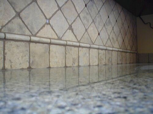 tumbled marble backsplash kitchen pinterest