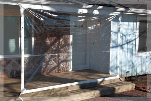 Curtains Ideas vinyl curtains : iTarp Patio Windbreak Outdoor a clear vinyl patio windbreak that is ...