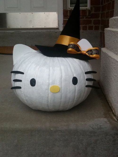 hello kitty pumpkin witch halloween pinterest