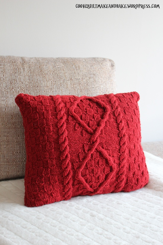 Free Boot Cuff Patterns Knit : Cable Knit Cushion Cover Knitting Afghans Pillows Poofs Pinterest