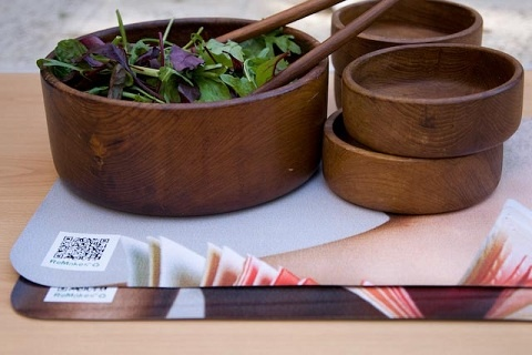 ReMakes™ Reclaimed billboard placemats