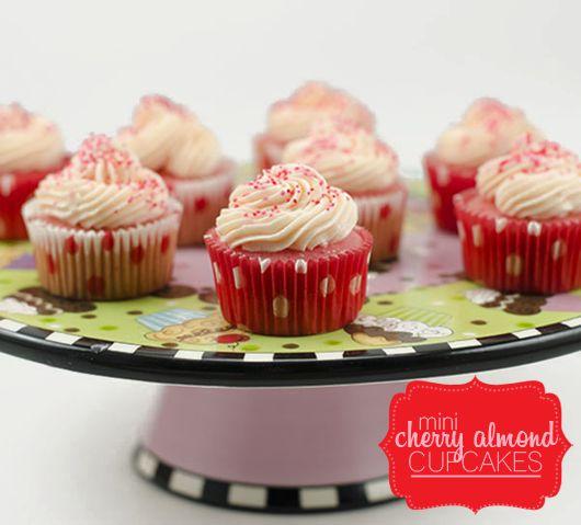 mini-cherry-almond-cupcakes | Recipes | Pinterest