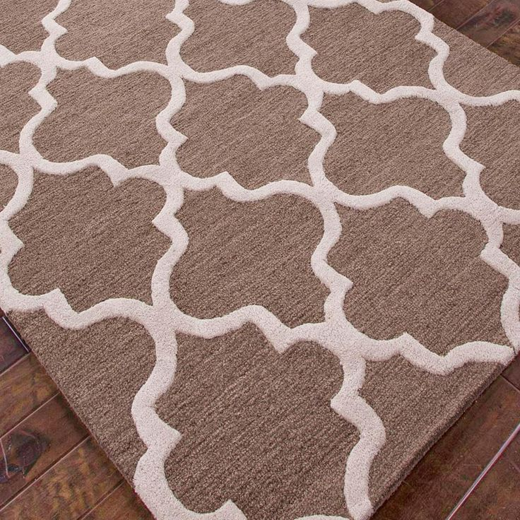 Tudor Window Grill Plush Wool Rug Available In 4 Colors
