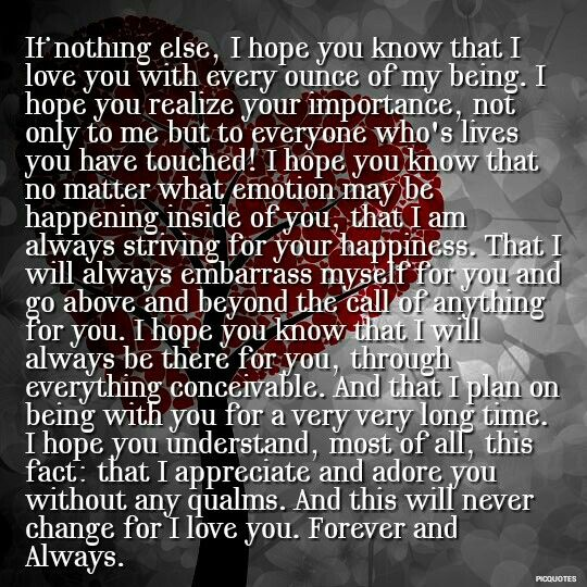 Quotes About Love U Forever : Forever I will love you. #love #quotes