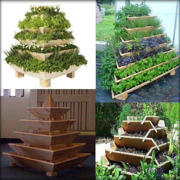 I love the idea of this herb and veggie garden especially for Vertical veggie garden ideas