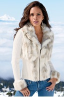 Snow bunny zip-front cardigan|Boston Proper