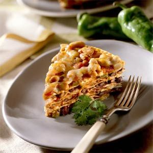 Seven-Layer Tortilla Pie I like to add shredded chicken to a layer or ...