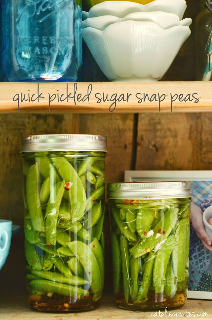 quick pickled sugar snap peas recipe by natalie creates