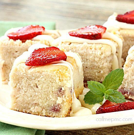 Fresh Strawberry Yogurt Cake - Call Me PMc