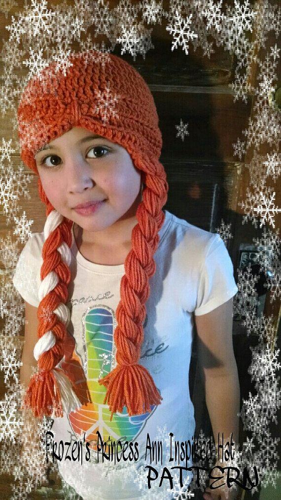 Crochet Pattern Anna Hat : CROCHET PATTERN - Frozens Anna Inspired Hat