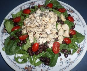 Spinach, Arugula, and Chicken Salad with Honey-Lime Chipotle Dressing ...