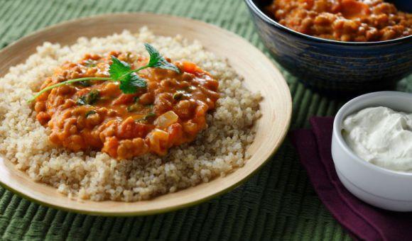 Coconut Thai Curry Lentils with Quinoa | Lentils.ca