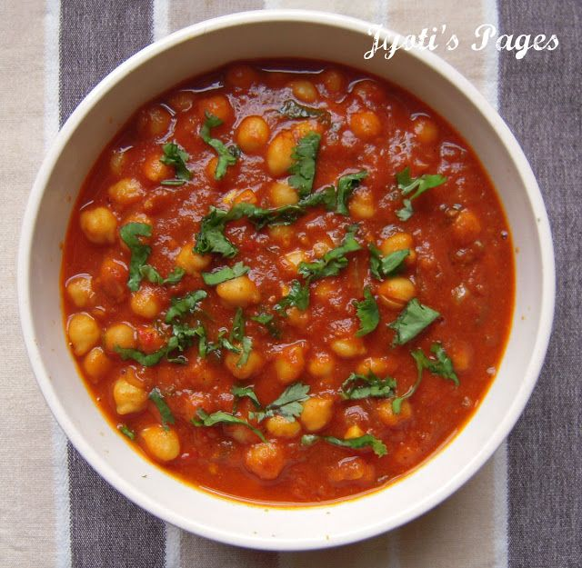 Jyoti's Pages: Channa Masala ~ Chole ki Subji ~ Chickpea Curry - For ...
